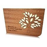 ausgefallene Grusskarte, Geburtstagskarte für Senioren, besondere Karte, Klappkarte, Glückwunschkarte aus Mahagoni Holz -