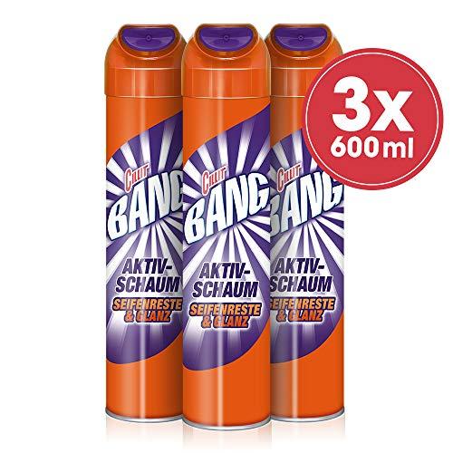 Cillit Bang Aktivschaum Badreiniger Seifenreste & Glanz, 3er Pack (3 x 600 ml)