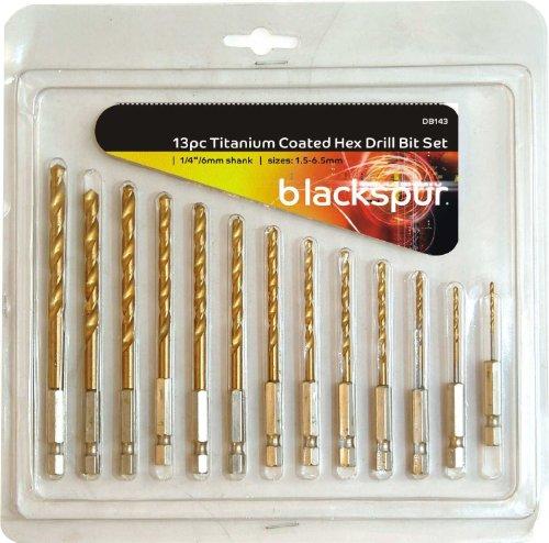 blackspur-bb-db143-titanium-coated-hex-drill-bit-set-by-blackspur