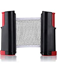 Portable Retractable Table Tennis Net Rack/ Replacement Ping Pong Accessory(Red)