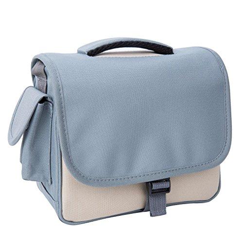 Kameratasche Fototasche Wasserabweisend aus Nylon Schultertasche für DSLR-Kamera-Tasche für SLR-Kamera und Zubehör, Khaki