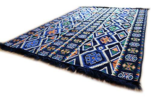 200x135 cm Orientalischer Teppich, Kelim,Kilim,Carpet,Bodenmatte,Bodenbelag,Rug Neu aus Damaskunst S 1-4-401 - Kelim Teppiche Teppiche