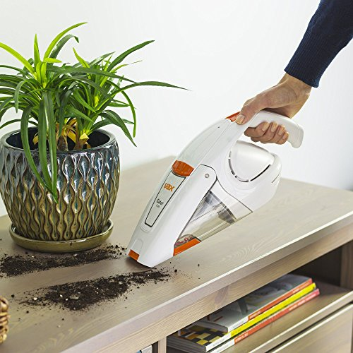 Vax H85-GA-B10 Gator Cordless Handheld Vacuum Cleaner, 0.3 L – White/Orange