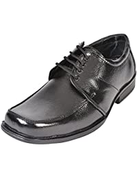 Altitiude Men's Black Leather Formal Lace Up Shoes