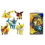 Pokemon XL Multipack / Heldenset oder Actionfigur / Sammelfiguren Evoli, Pikachu, Blitza, Flamara und Aquana
