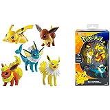 Pokemon XL MULTIPACK / heldenset O Figura de acción/FIGURAS COLECCIONABLES evoli ,Pikachu,Blitza,flamara y aquana