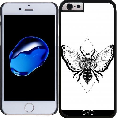 Coque Silicone pour Iphone 5/5S - Crâne Papillon by JailbreakArts Plastique Rigide