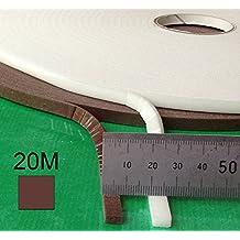 Tira protectora autoadhesiva de espuma para espesores de 1 a 4mm - 20 metros rollo marrón