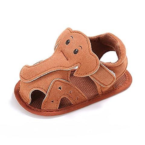 Baby Junge Elefant Sandalen Baby Sommerschuhe Braun 6-12 Monate