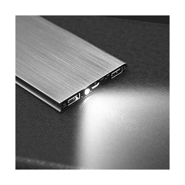 Vonpri 10000mah Caricabatterie Portatile Power Bank Batteria Esterna per iPhone7 iPad, Samsung Smartphones e Tablets… 5 spesavip