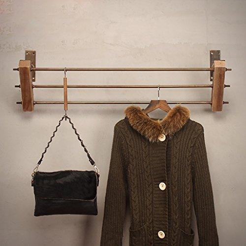 SH-qiang Kleiderständer Bekleidungsgeschäft Ständer für Kleiderständer Massivholz Wandmontierte Hängeständer Regale Regale Wandgarderobe (Größe : 80cm)
