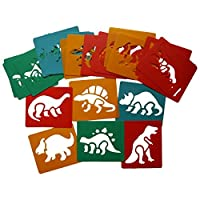 Art Straws HP12051 24 Individual Stencils (4 of Each), Dinosaurs
