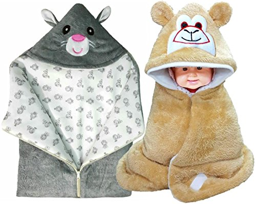 BRANDONN FASHIONS Newborn 3 In 1 Baby Bedding Set /Baby Blanket / Sleeping Bag For Babies(Pack Of 2)