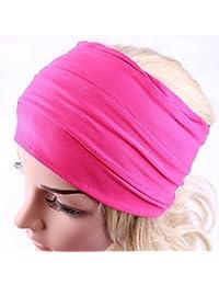 f0c3e8131e2e Malloom Bandeau - larges accessoires de cheveux pour femmes bandeau  serre-tête boho course bandeau