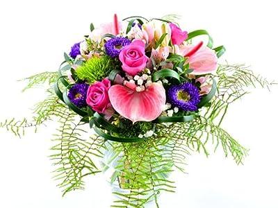 Blumenversand - Blumenstrauß - zum Geburtstag - Mother´s Love - Anthurien in zarten rosa - mit Gratis - Grußkarte zum Wunschtermin versenden von Der Renner - Blumenversand bei Du und dein Garten