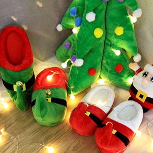Auspicious beginning Unisex Uomo Donna Winter Festival di Natale per le vacanze Pantofole stivaletti alla caviglia caldo cappello rosso)
