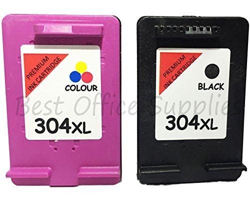 Preisvergleich Produktbild Best Office Supplies wiederaufbereitete 304XL Schwarz & Farbe Tintenpatronen Combo Kompatibel mit HP Deskjet Deskjet 37203730373237333735Envy 502050305032Drucker
