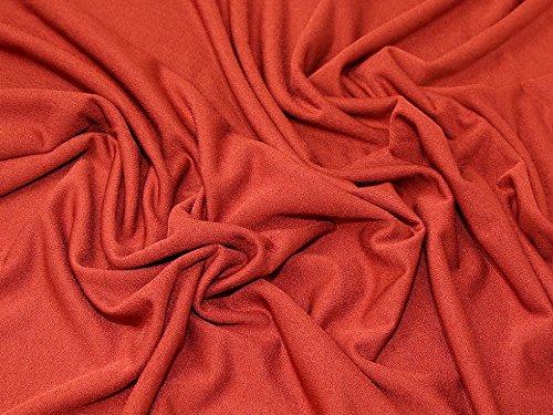Minerva Crafts mit Scuba Crepe Stretch Jersey Knit Stoff-Rost-Meterware