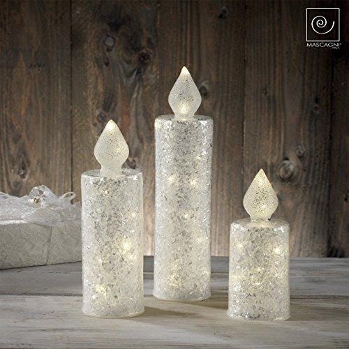 Mascagni vela de cristal con 12luces a LED Alimentate a batería cm 26