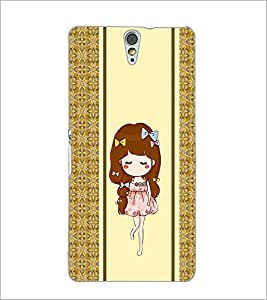 PrintDhaba Cute Girl D-2789 Back Case Cover for SONY XPERIA C5 ULTRA (Multi-Coloured)