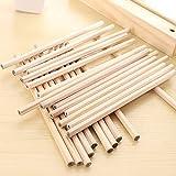 Juego de lápices de madera natural de grafito natural, hexagonales, para oficina, escuela, suministros de dibujo (30unidades), de Tily HB