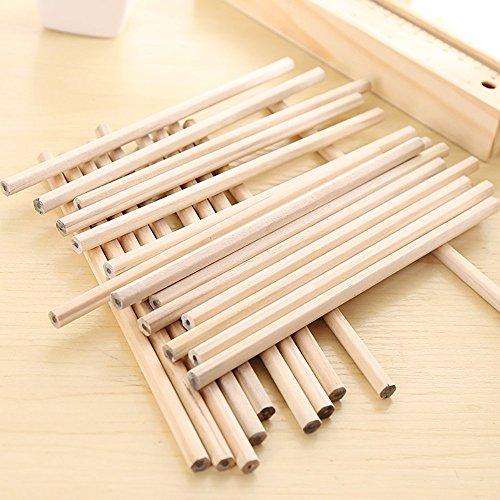 Juego lápices madera natural grafito natural, hexagonales