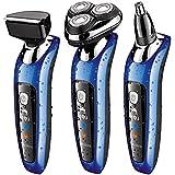 SURKER máquina de afeitar afeitadoras eléctricas Multifunción y Tres cabezas Giratoria- Mejor regalo para novio y marido