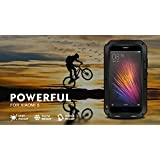 Love Mei Powerful - Carcasa súper protectora anti-shock con Gorilla Glass para Xiaomi M5 / Mi5 - Negro
