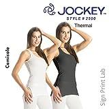 JOCKEY pour femmes thermiques CARACO 2500- col bas CONCEPTION- confortable ajusté FIT- long - Charbon, X-Large