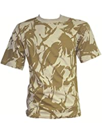 Military Desert Camouflage Cotton T-Shirt Mens Large