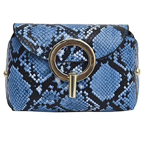 LILIGOD Mode Frauen Schlange Eine Schulter Diagonalpaket Brusttasche Hüfttasche im Freien Haspe Messenger Bag Brusttasche Leder Umhängetasche Münztüte Handytasche Paket kaufen