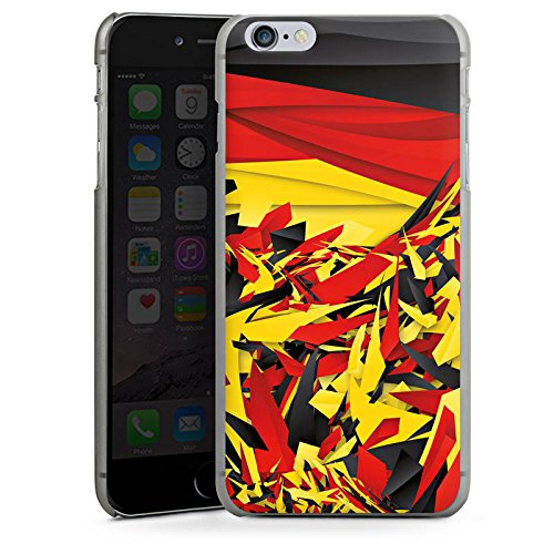 Apple iPhone X Silikon Hülle Case Schutzhülle Deutschland Flagge Muster Hard Case anthrazit-klar