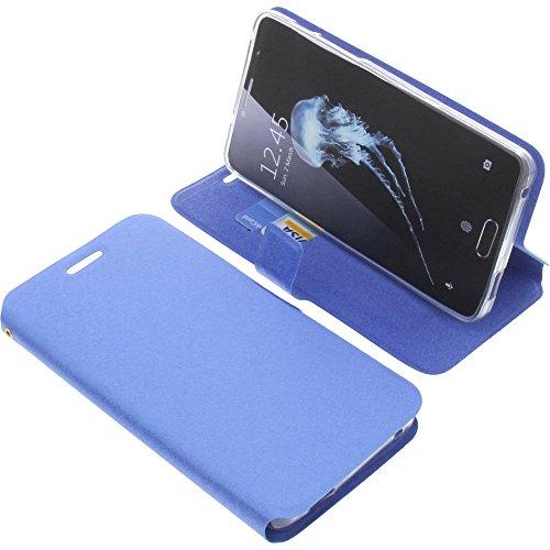 foto-kontor Tasche für Alcatel Flash Plus 2 Book Style blau Schutz Hülle Buch