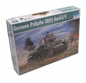 Trumpeter 01577 PzKpfw 38(t) Ausf.E/F - Tanque alemán a Escala