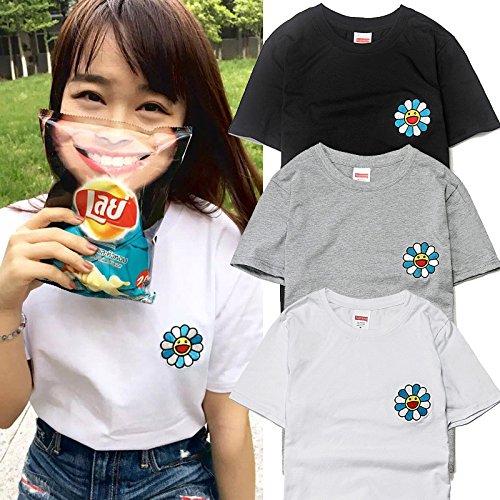 BOMOVO Herren SUPERME T-Shirt Basic - Slim Fit, 995EE2K903 Sunflower  kleines Lächeln Grau ...