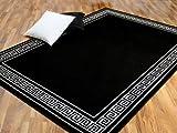 Pergamon Teppich Trendline Schwarz Weiß Römische Bordüre 4 Größen