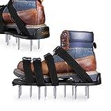 Rasenlüfter Schuhe, Tacklife GAS1A 4 Riemen Rasenbelüfter-Nagelschuhe, 30cm lange Sohlen, 5,5cm lange Nägel, 4 einstellbare Riemen mit Metallschnallen, universelle Größe,für gesünderen Rasen