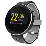 LATITOP Fitness Tracker With Heart Rate Monitor Pedometer Calorie Counter Sleep Monitor Bluetooth Waterproof Smart Watch With Alarm Clock CallSNSSMS Reminder Weather Information Compatible With IOS An