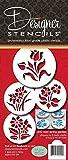 Designer Schablonen C352Botanischen Blumen Cookie Schablonen, klein, beige/Halbtransparent