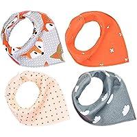 Toyvian Baberos Baby Bandana Drool | Conjunto de Baberos triángulo Infantil, Suave algodón orgánico, Baberos Extra absorbentes para la dentición del niño, bebé (Paquete de 4)