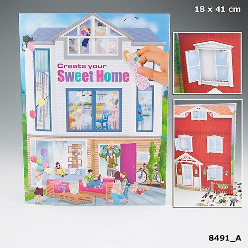 Preisvergleich Produktbild Create your Sweet Home Malbuch 8491 Haus Sticker Sonder Edition A