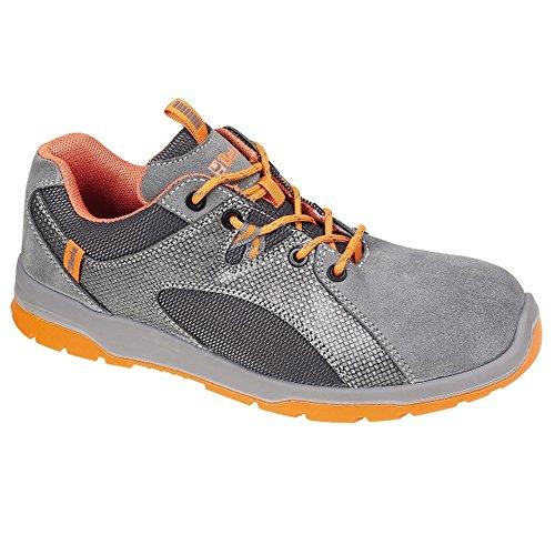 Schuhe Arbeit Schuh Herren Sicherheitsschuh BETA Mod.Monza Wildleder Niedrig Grau und Orange von 41bis 44 8Vg4U2BI