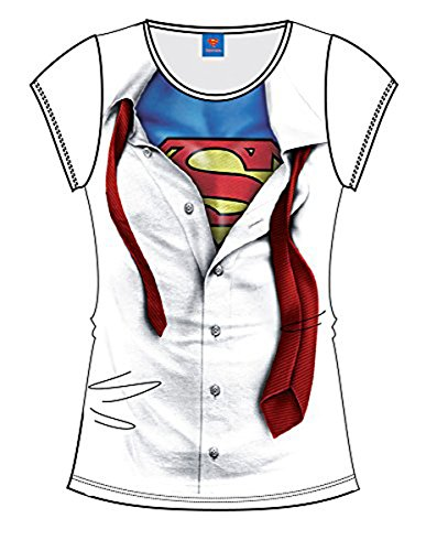 Superman Super Blouse Maglia donna bianco M