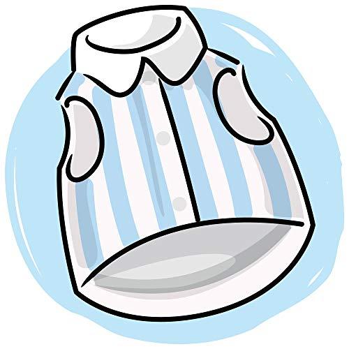 L Pet supplies UNPET Breguet Haustier Hund Katze Kostüm 乖乖 Peter Pan Kragen Top Sommer blau gestreiften Tank Top @ blau und weiß Stripes_S