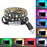 TV Backlight LED Streifen USB TV Rücklicht Beleuchtung Kit Farbwechsel RGB 100cm 5v für HDTV, Desktop PC etc. IP65 Wasserdicht