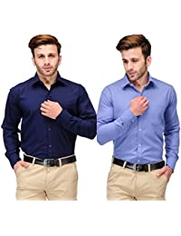 Koolpals Men Formal Rich Cotton Blend Shirt Multi Solid