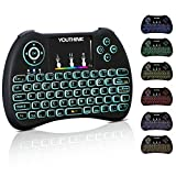 Zerone 2.4 GHz Mini LED Wireless Touch Teclado, hintergrundbeleuchtete Gaming de Teclado con touchpad Integrado para PC Pad Smart TV (Versión alemana)