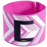 Bluelover Futbol los aficionados Flexible capitan de futbol brazalete ajustable C impresion brazalete-rosa