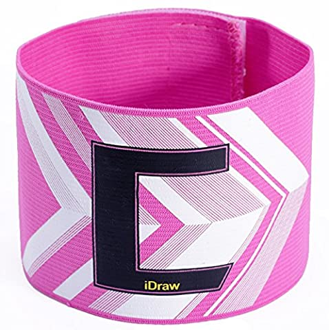 Bluelover Football Fans Flexible Armband Soccer Captain Adjustable C printing Armband -Pink