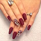 #3: Spero New 2018 vov Matte makeup Long-lasting Maroon Nail color With Very Beautiful Attractive colour with Free shipping
